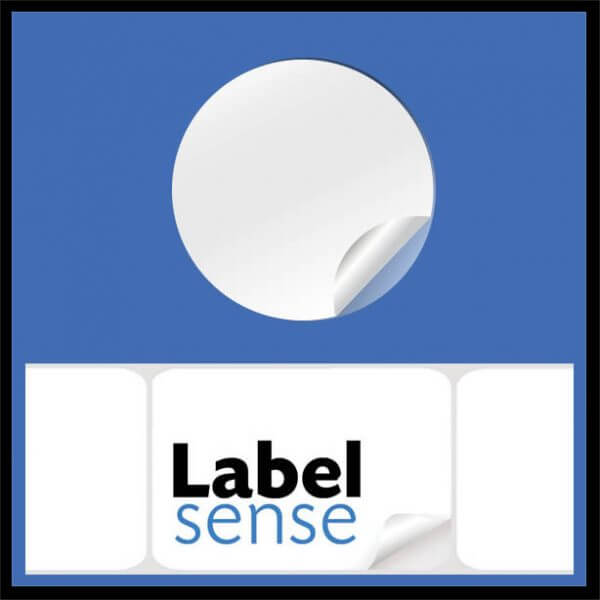 Circlabel 600x600 - Circular Labels - White Permanent
