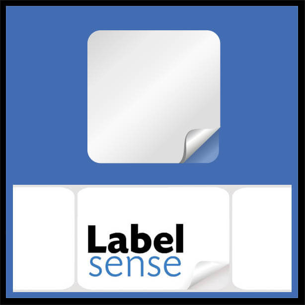 squlabel - Square Labels - White Permanent