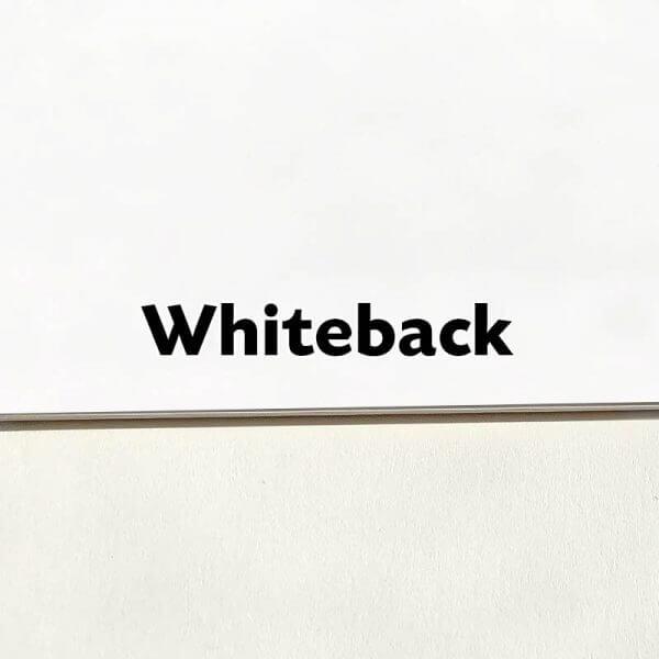 1 Sided - Whiteback