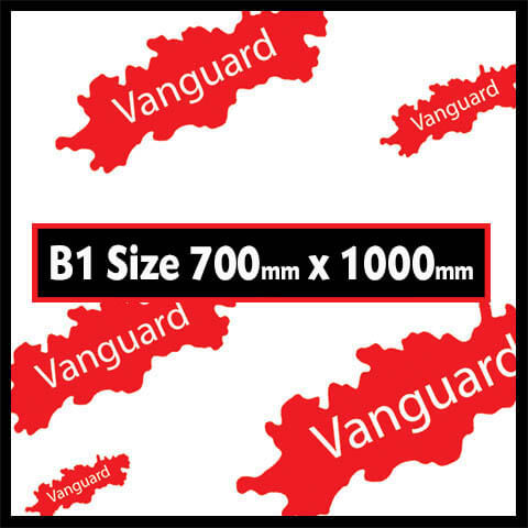 Vanguard B1 - Vanguard B1 Size - THE BIGGEST COLOURED SHEET AVAILABLE