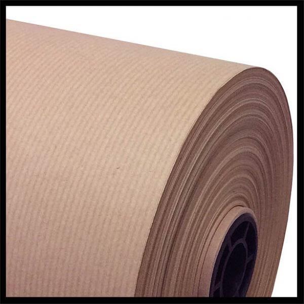 Kraft Paper Roll 600x600 - Pure Ribbed Kraft Paper Roll 90gm2